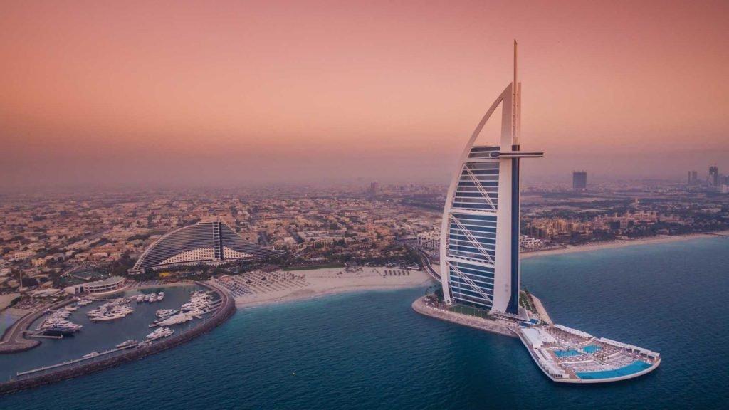 برج العرب من افضل فنادق شهر العسل في دبي