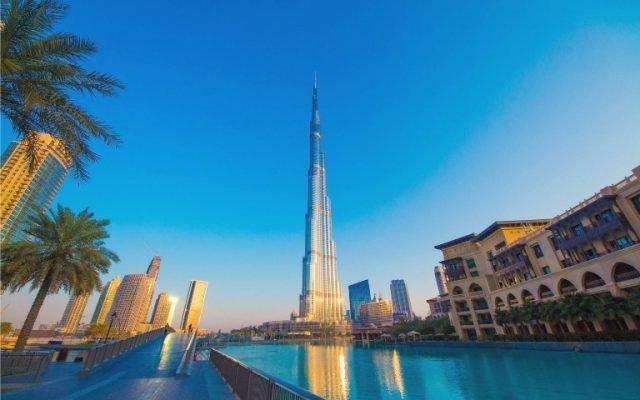 صورة برج خليفة في وسط مدينة دبي