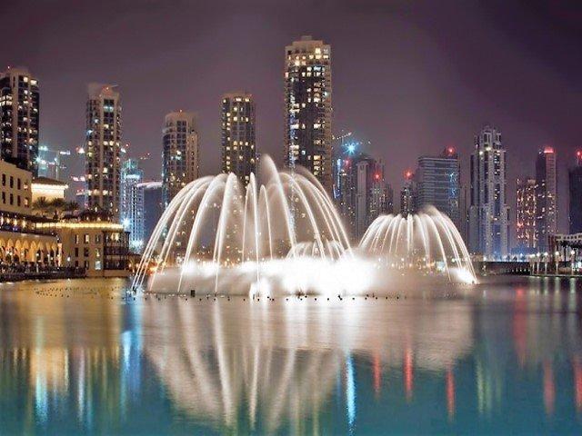 موقع نافورة دبي