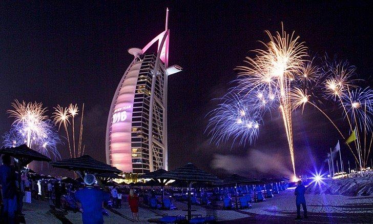 برج العرب من افضل أماكن حفلات راس السنة 2020 في دبي