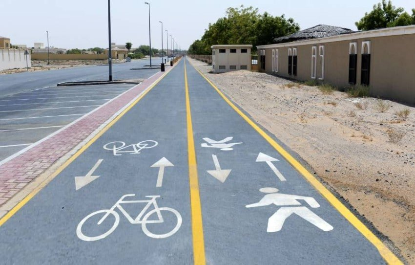 أفضل مسارات الدراجات الهوائية في دبي