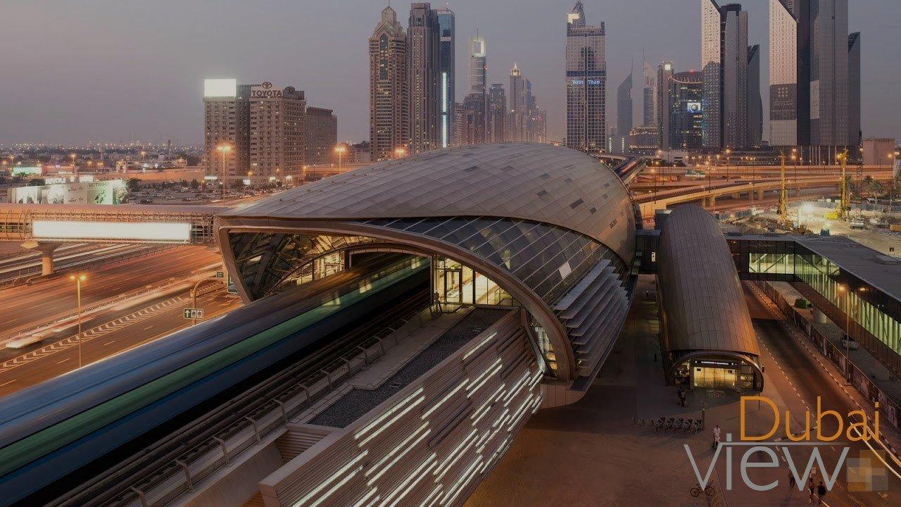 خريطة محطات مترو دبي وأشهر الأماكن السياحية القريبة فيو دبي