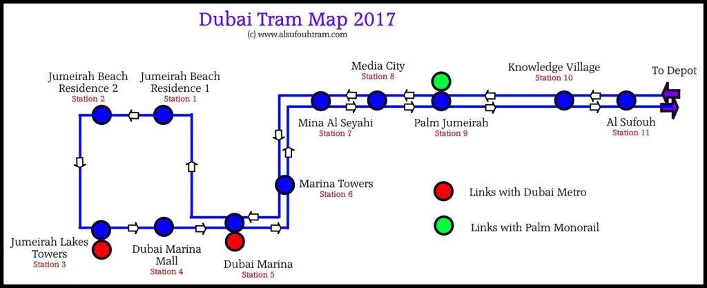 خريطة ترام دبي