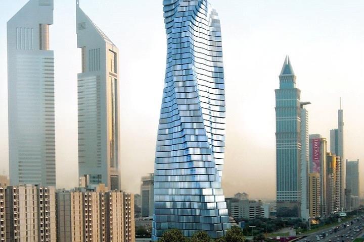 برج دبي الدوار من ابراج دبي المتحركة