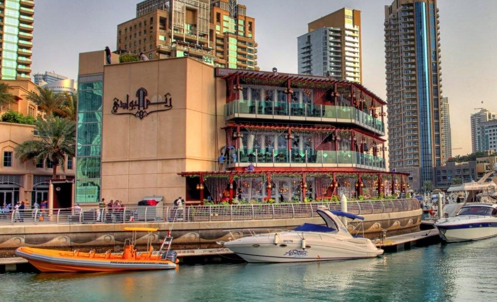 يعد مطعم ريم البوادي افضل مطعم مشاوي في دبي مارينا