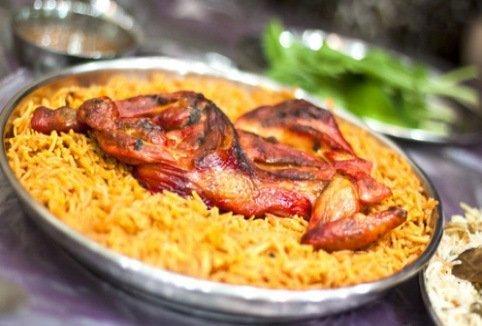 منيو مطعم راشد الزعابي