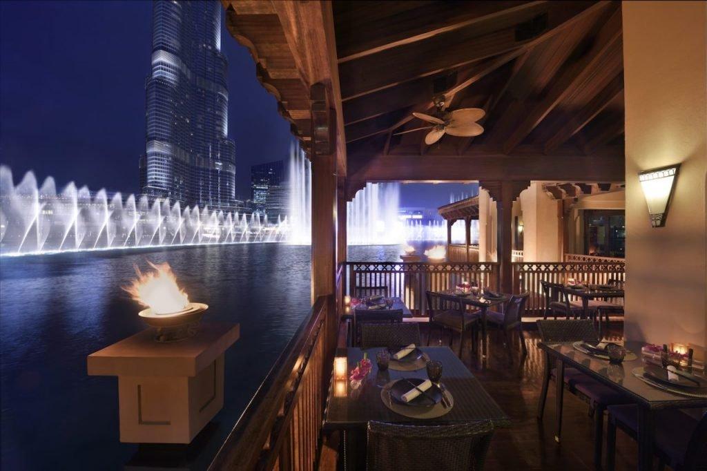 Restaurants overlooking the Dubai Fountain